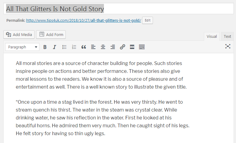 all the glitter is not gold short story